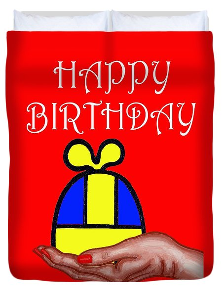 Happy Birthday 2 Duvet Cover by Patrick J Murphy