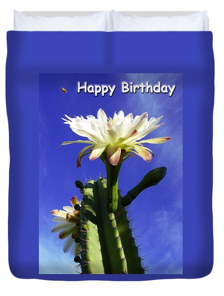 Happy Birthday Card And Print 11 Duvet Cover