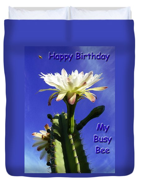 Happy Birthday Card And Print 13 Duvet Cover