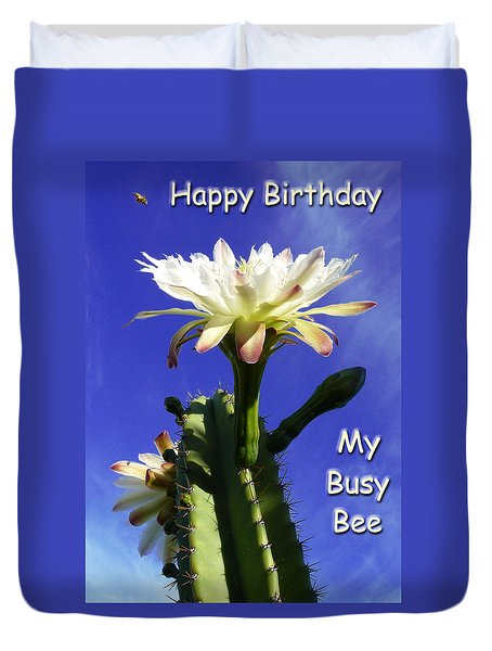 Happy Birthday Card And Print 14 Duvet Cover