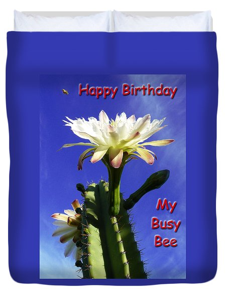 Happy Birthday Card And Print 15 Duvet Cover