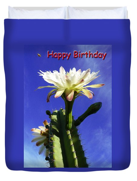 Happy Birthday Card And Print 16 Duvet Cover