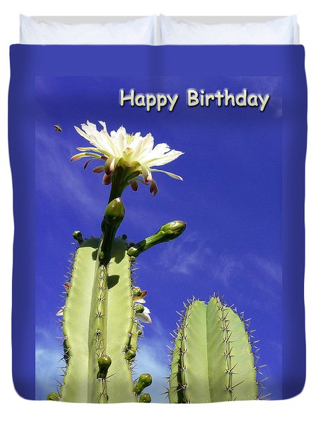 Happy Birthday Card And Print 17 Duvet Cover