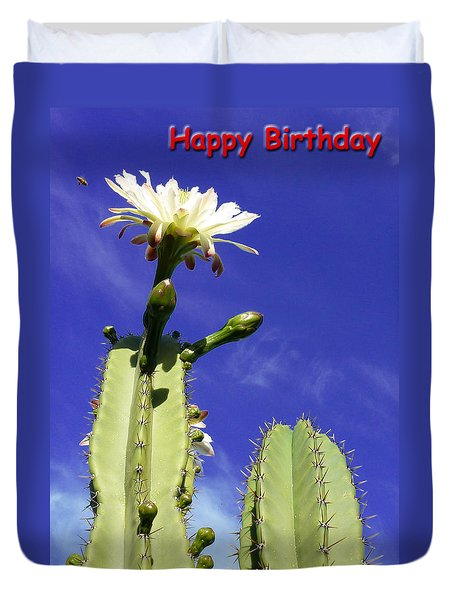 Happy Birthday Card And Print 18 Duvet Cover