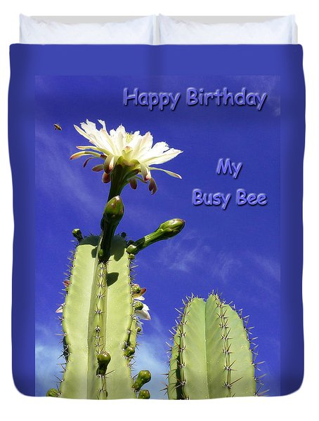 Happy Birthday Card And Print 20 Duvet Cover
