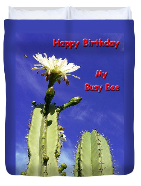 Happy Birthday Card And Print 21 Duvet Cover