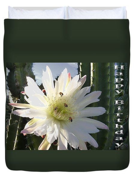 Duvet Cover featuring the photograph Happy Birthday Card And Print 9 by Mariusz Kula
