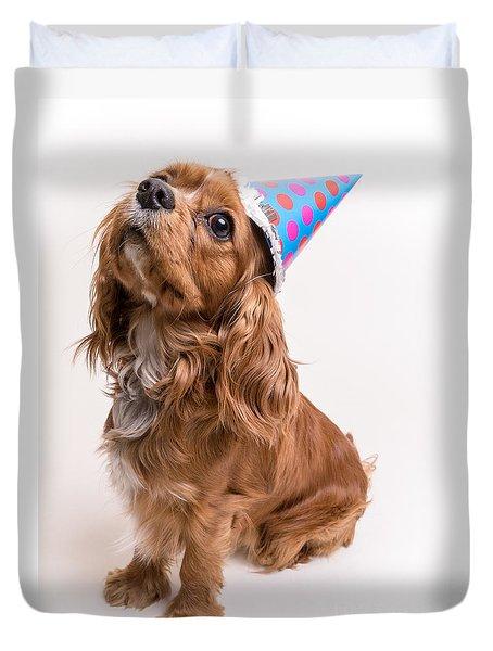 Happy Birthday Dog Duvet Cover