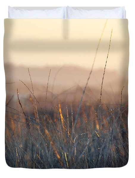 Duvet Cover featuring the photograph Happy Camp Canyon Magic Hour by Kyle Hanson