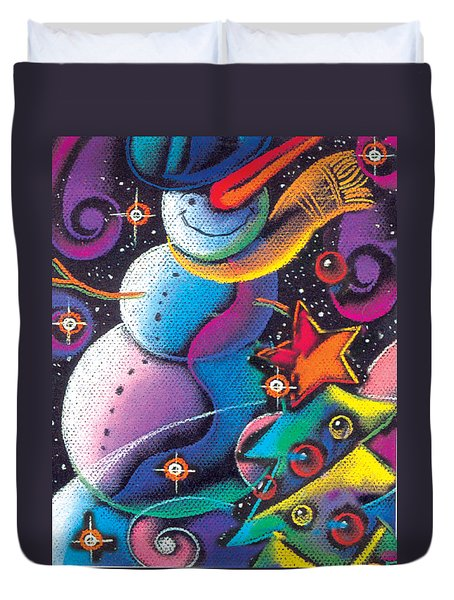 Happy Christmas Duvet Cover by Leon Zernitsky