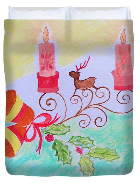 Happy Christmas Duvet Cover
