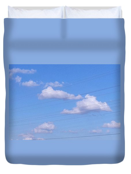 Happy Cloud Day Duvet Cover
