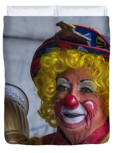 Happy Clown Duvet Cover by Susan Candelario