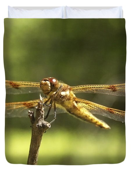 Happy Dragonfly Duvet Cover by Patrick Fennell