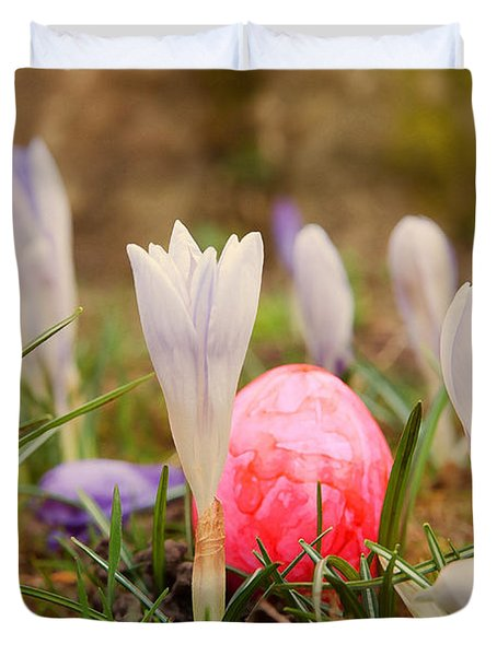 Duvet Cover featuring the photograph Happy Easter 2 by Christine Sponchia