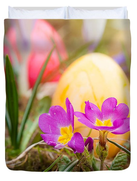 Duvet Cover featuring the photograph Happy Easter by Christine Sponchia
