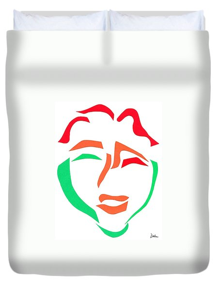 Happy Face Duvet Cover by Delin Colon