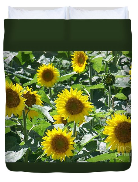 Duvet Cover featuring the photograph Happy Faces by Jackie Mueller-Jones