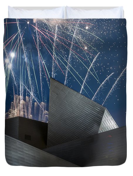 Happy Fourth Duvet Cover by Juli Scalzi