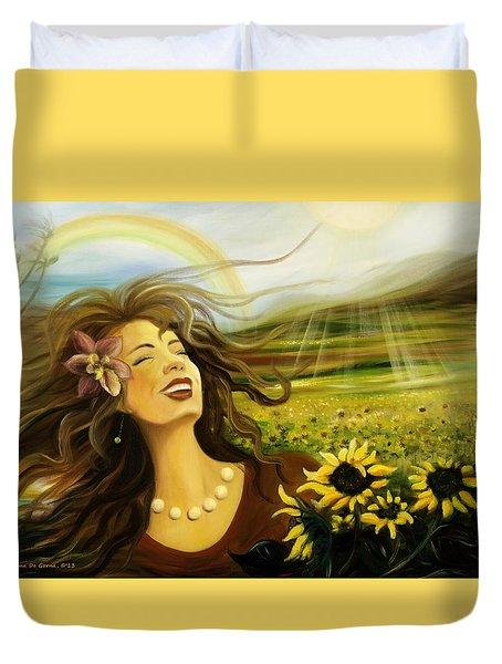 Happy Duvet Cover by Gina De Gorna