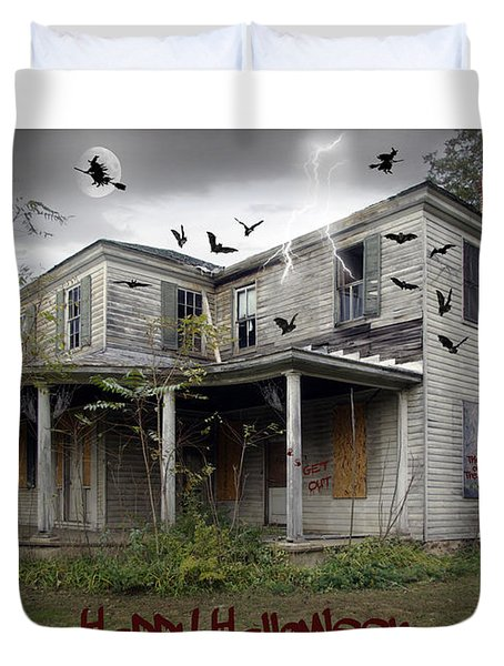 Happy Halloween Duvet Cover by Brian Wallace