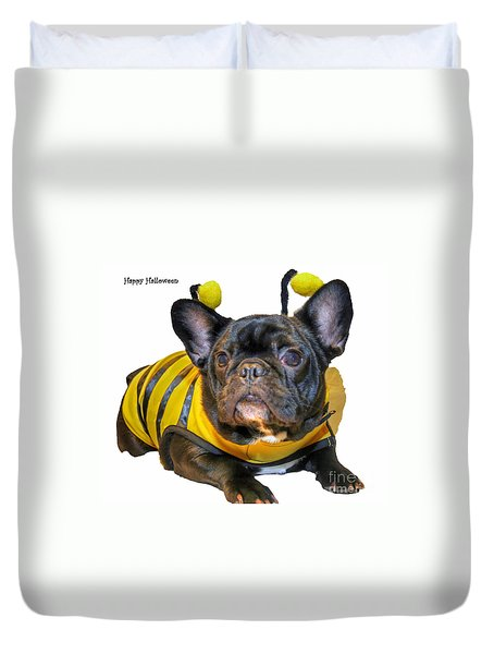 Happy Halloween Card Duvet Cover by Tap On Photo
