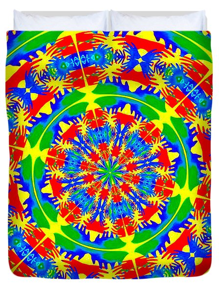 Happy Hands Mandala Duvet Cover