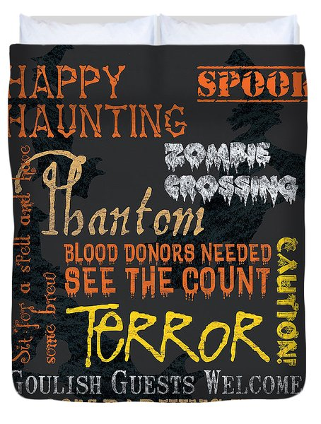 Happy Haunting Duvet Cover