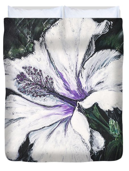 Happy Hibiscus Duvet Cover by Scott and Dixie Wiley
