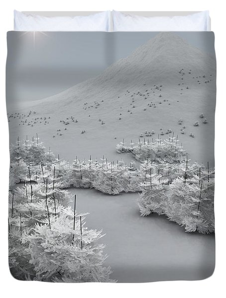 Happy Holidays Duvet Cover by Richard Rizzo