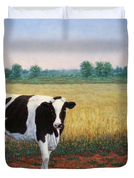 Happy Holstein Duvet Cover by James W Johnson