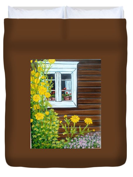 Happy Homestead Duvet Cover