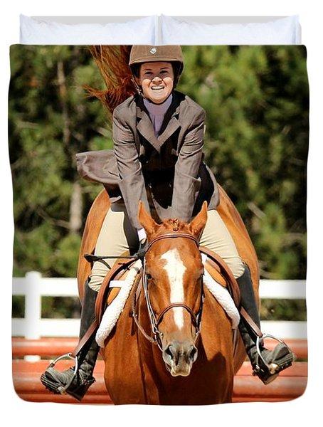 Happy Hunter Horse Duvet Cover