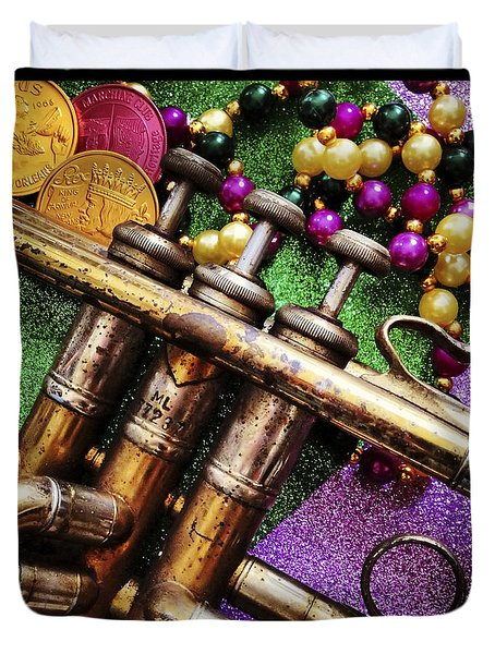 Happy Mardi Gras Duvet Cover by KG Thienemann