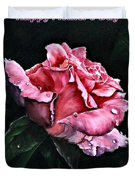 Duvet Cover featuring the painting Happy Mother's Day by Lynne Wright