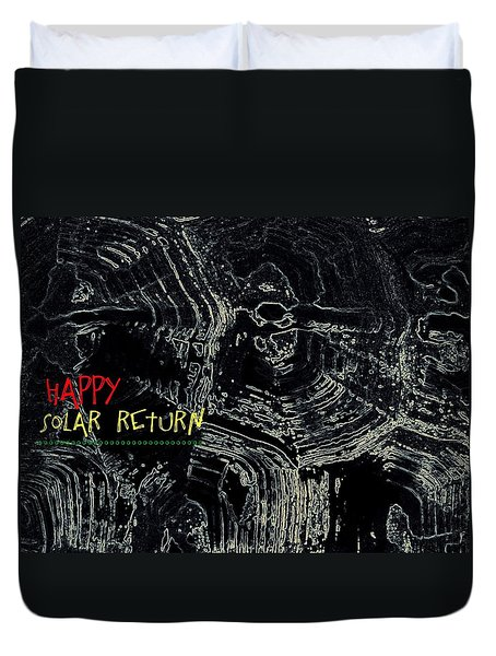 Happy Solar Return 470 Duvet Cover