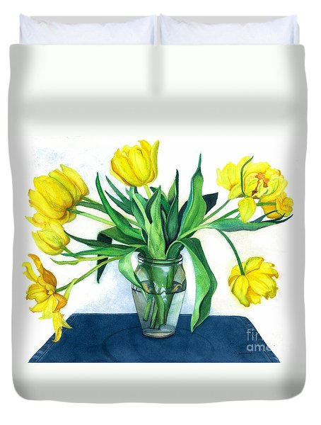 Happy Spring Duvet Cover by Barbara Jewell