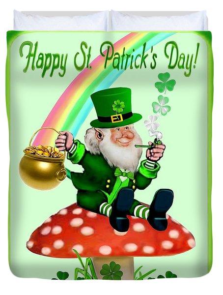 Happy St. Patrick's Day Duvet Cover by Glenn Holbrook
