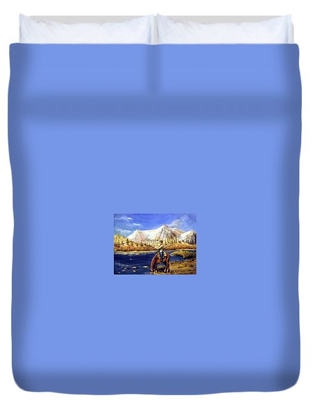 Happy Trails Duvet Cover by Bernadette Krupa