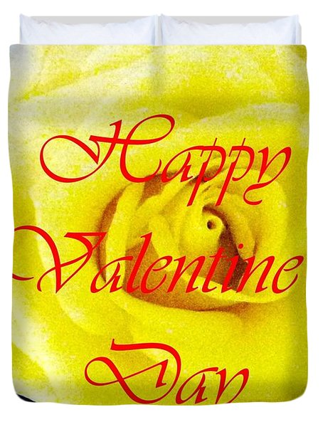 Happy Valentine's Day Duvet Cover by Barbie Corbett-Newmin