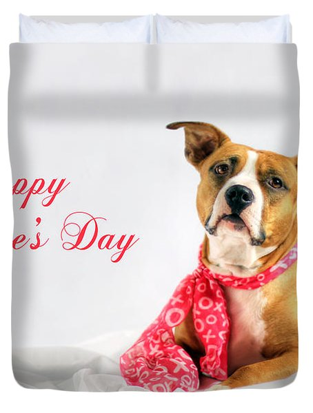 Fifty Shades Of Pink - Happy Valentine's Day Duvet Cover