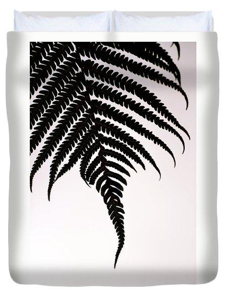Hapu'u Frond Leaf Silhouette Duvet Cover