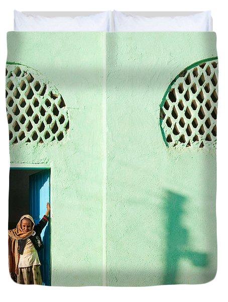 Harar Ethiopia Old Town City Mosque Girls Children Duvet Cover