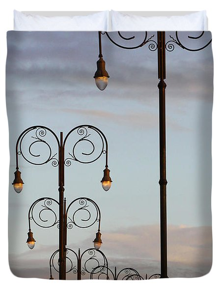 Harbor Lights Duvet Cover