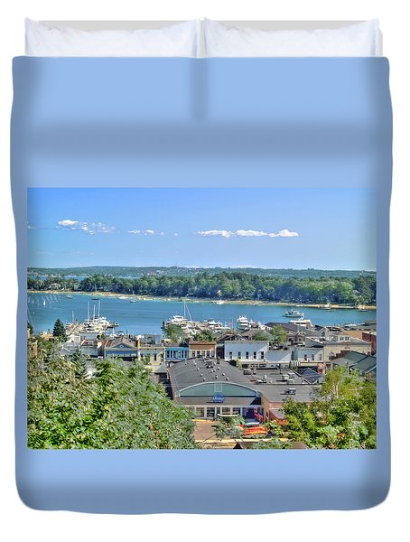 Harbor Springs Michigan Duvet Cover by Bill Gallagher