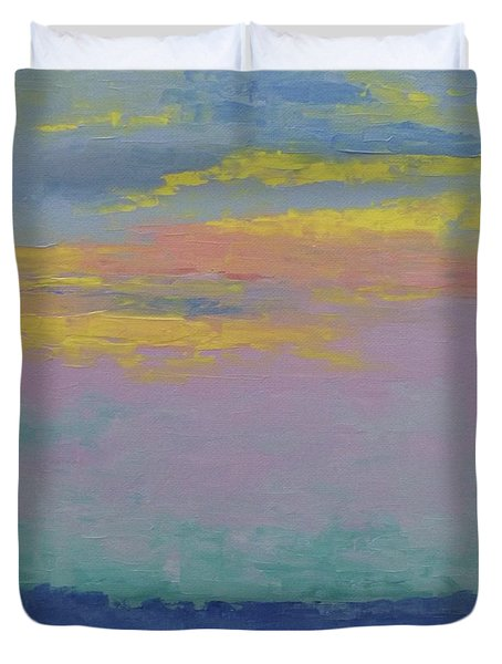 Harbor Sunset Duvet Cover