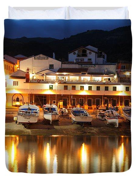 Harbour At Twilight Duvet Cover by Gaspar Avila