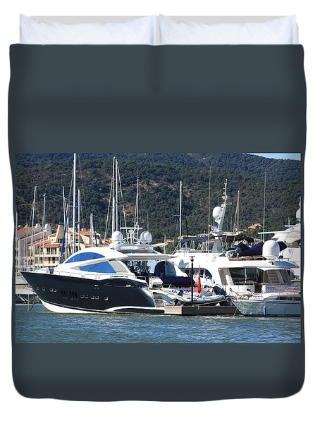 Harbour Docking Scene Duvet Cover by Rogerio Mariani