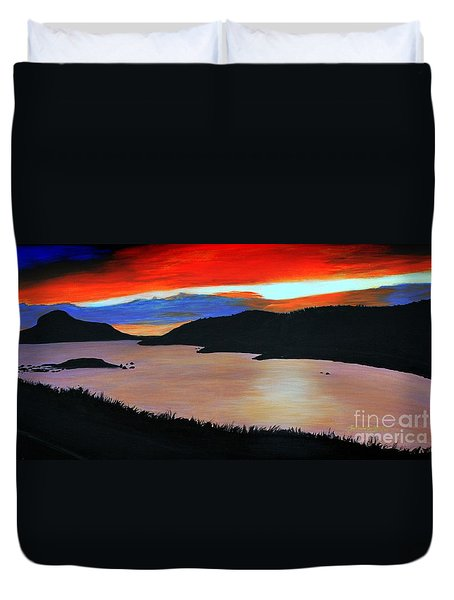 Harbour Sunset Duvet Cover by Barbara Griffin