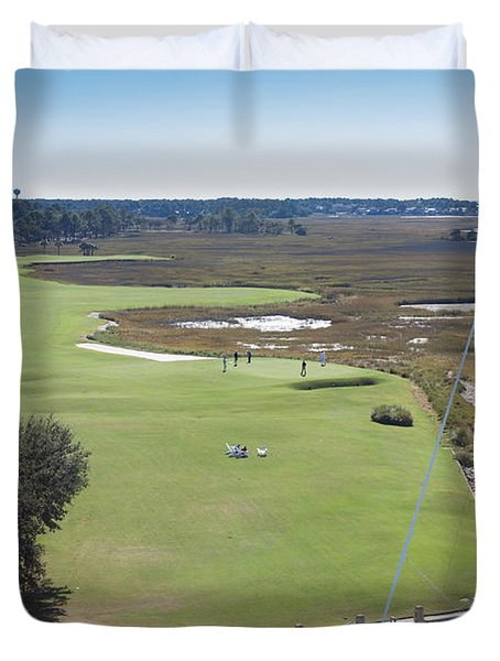 Harbourtown Golf Course 18th Hole Duvet Cover